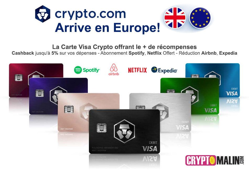 La Meilleure Carte VISA Crypto.com en Europe et des Nouveaux Avantages
