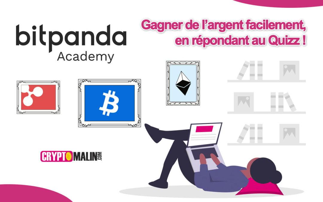 Gagner de l'argent facilement avec Bitpanda Academy