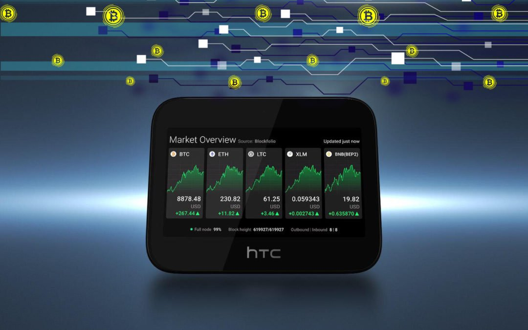 HTC : routeur privé EXODUS 5G Hub avec un nœud Bitcoin complet